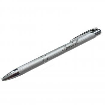 Silber Gebürsteter Kugelschreiber Mit Ihrer Gravur Personalisiert