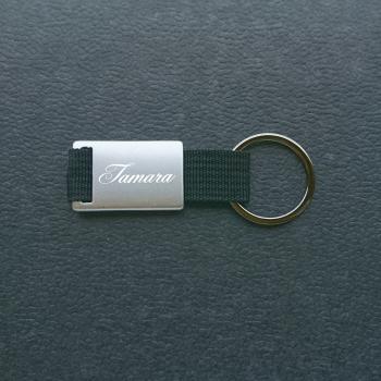 Schlichter Schlüsselanhänger Durch Individuelle Gravur Personalisieren Silber